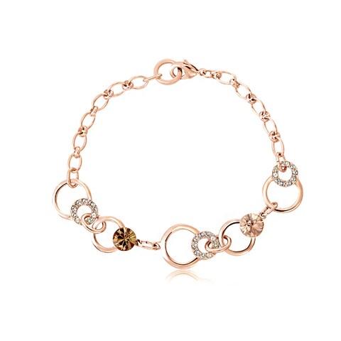Alchemy Jewelry Handmade Rose Gold Ethical Chocolate Gemstone Charm Bracelet