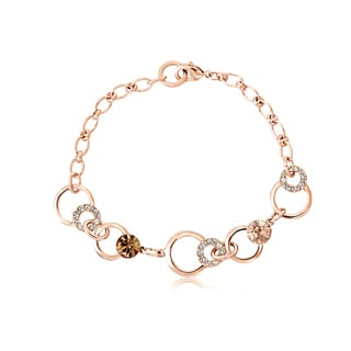 Alchemy Jewelry Rose Goldplated Chocolate Crystal Link Bracelet