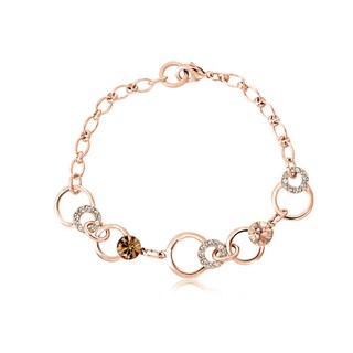 Alchemy Jewelry Handmade Rose Gold Ethical Chocolate Gemstone Charm Bracelet