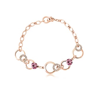 Alchemy Jewelry Rose Goldplated Cubic Zirconia Link Bracelet