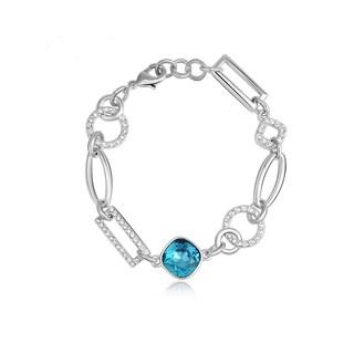 Alchemy Jewelry Handmade Silver Ethical Aqua Gemstone Charm Bracelet
