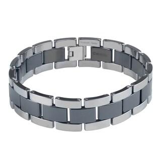 Vance Co. Ceramic Men's Link Bracelet