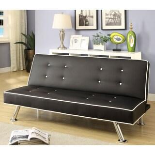 Furniture of America Orinthi Contemporary Leatherette Futon Sofa