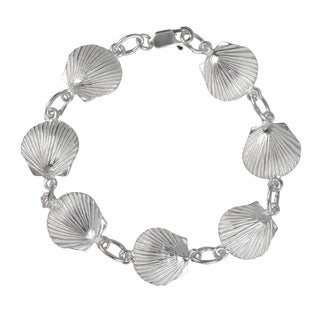 Journee Collection Sterling Silver Shell Figaro Bracelet