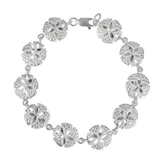 Journee Collection Sterling Silver Sand Dollar Bracelet