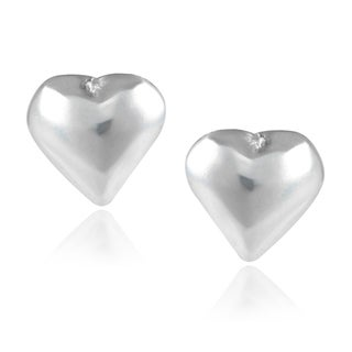 Journee Collection Sterling Silver Heart-shaped Stud Earrings