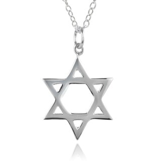 Journee Collection Sterling Silver Star of David Necklace