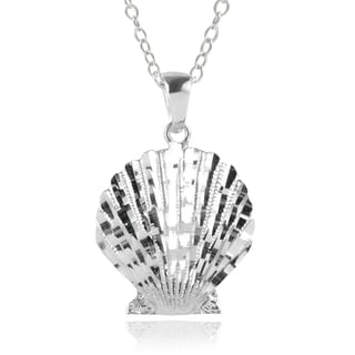 Journee Collection Sterling Silver Shell Necklace