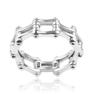Vance Co. Sterling Silver Men's Bike Chain Ring
