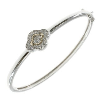 Michael Valitutti 14k Yellow Gold over Sterling Silver Cubic Zirconia Bracelet