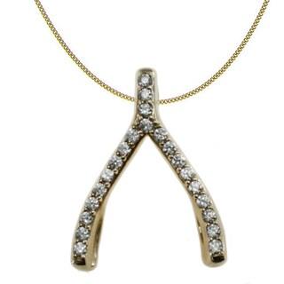 Michael Valitutti 10k Yellow Gold Cubic Zirconia Bone Necklace