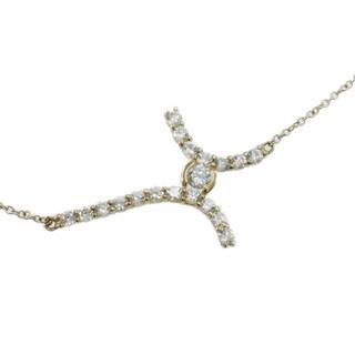 Michael Valitutti 10k Yellow Gold Cubic Zirconia Cross Necklace