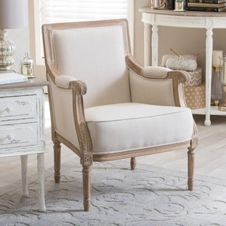 Link to Chavanon Wood & Cotton Traditional French Accent Chair Similar Items in Accent Chairs