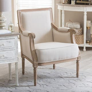 Chavanon Wood & Cotton Traditional French Accent Chair