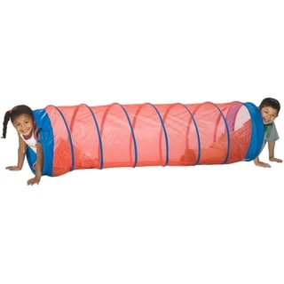 Pacific Play Tents Fun Tube Tunnel - Blue with Red Mesh