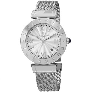 Charriol Women's AMS.51.001 'Alexandre C' Silver Dial Stainless Steel Bracelet Swiss Quartz Watch