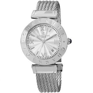 Charriol Women's AMS.51.001 'Alexandre C' Silver Dial Stainless Steel Bracelet Swiss Quartz Watch