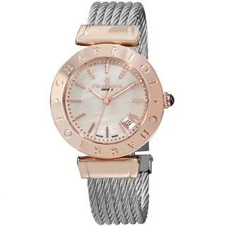 Charriol Women's AMP.51.004 'Alexandre C' Mother of Pearl Dial Two Tone Stainless Steel Quartz Watch