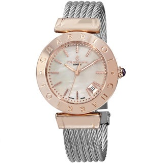Charriol Women's 'Alexandre C' Mother of Pearl Dial Two Tone Stainless Steel Quartz Watch