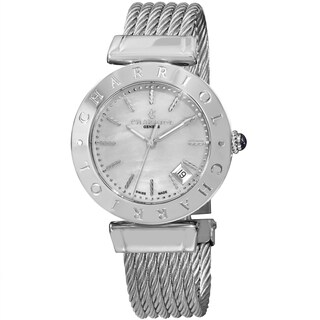 Charriol Women's AMS.51.002 'Alexandre C' Mother of Pearl Dial Stainless Steel Bracelet Quartz Watch