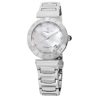 Charriol Women's AMAS.920.A002 'Alexandre C' Mother of Pearl Diamond Dial Stainless Steel Bracelet Watch