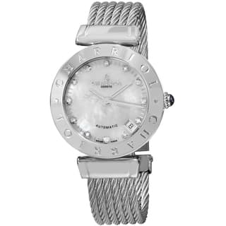 Charriol Women's AMAS.51.A002 'Alexandre C' Mother of Pearl Diamond Dial Stainless Steel Automatic W|https://ak1.ostkcdn.com/images/products/9971732/P17124597.jpg?impolicy=medium
