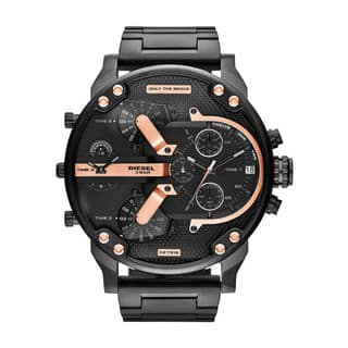 Diesel Men's DZ7312 'Mr. Daddy 2.0' Chronograph Black Stainless Steel Watch|https://ak1.ostkcdn.com/images/products/9971735/P17124605.jpg?impolicy=medium