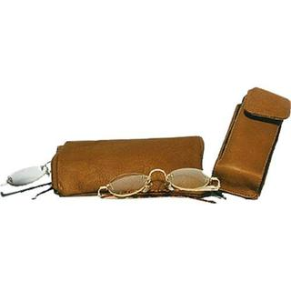 David King Leather 444 Double Eyeglass Case (Set of 2) Tan