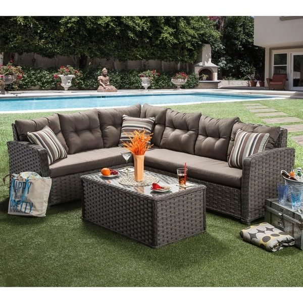 Shop Furniture Of America Bliss 2-piece Outdoor Sectional