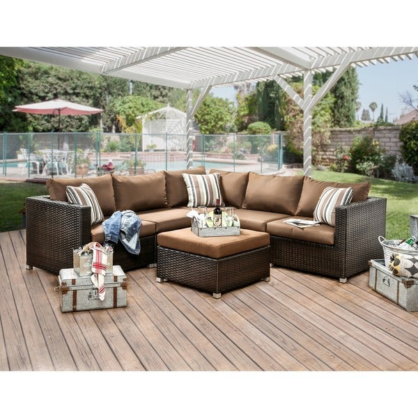 Furniture Of America Stella 2 Piece Outdoor Sectional Set