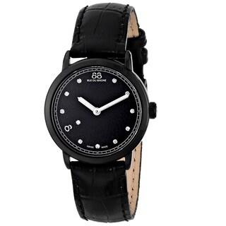 88 Rue du Rhone Women's 87WA120001 'Double 8 Origin' Swiss Quartz Black Leather Watch