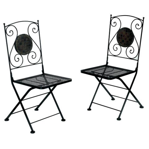 Furniture of America Braum Black Bistro Chairs (Set of 2)