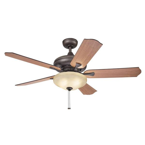 Kichler Lighting Traditional Bronze Ceiling Fan With 2