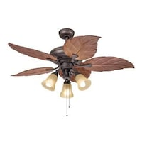 Havenside Home Chatham Lighting Casual Bronze 52 Inch Ceiling Fan With 3 Light Kit