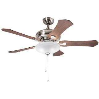 Kichler Lighting Traditional Brushed Nickel 52 inch Ceiling Fan with 3-light Kit and Reversable Blades