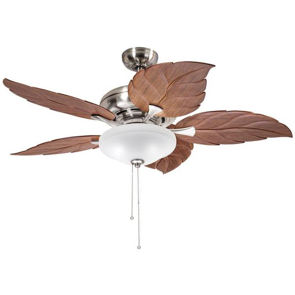 kichler lighting casual brushed nickel 52 inch ceiling fan