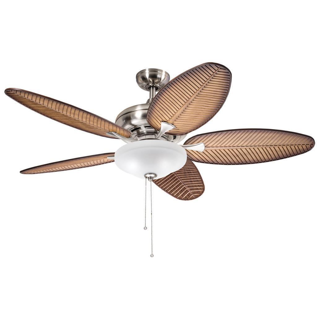 Havenside Home Chatham Casual Brushed Nickel 52-inch Ceiling Fan with 2-light Kit