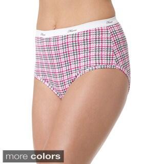 Hanes Women's Plus Cotton Brief 5-pack
