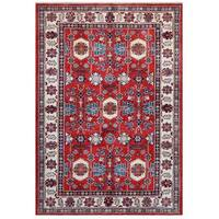 Herat Oriental Afghan Hand-knotted Tribal Super Kazak Wool Rug (5'5 x 7'8) - 5'5 x 7'8