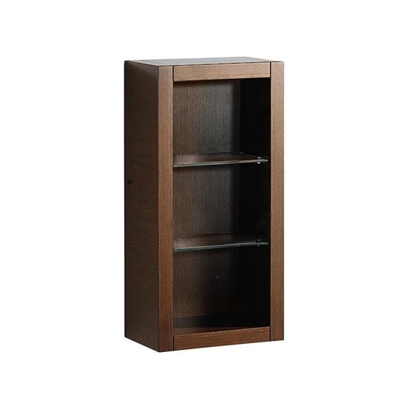 Shop Fresca Wenge Brown Bathroom Linen Side Cabinet With