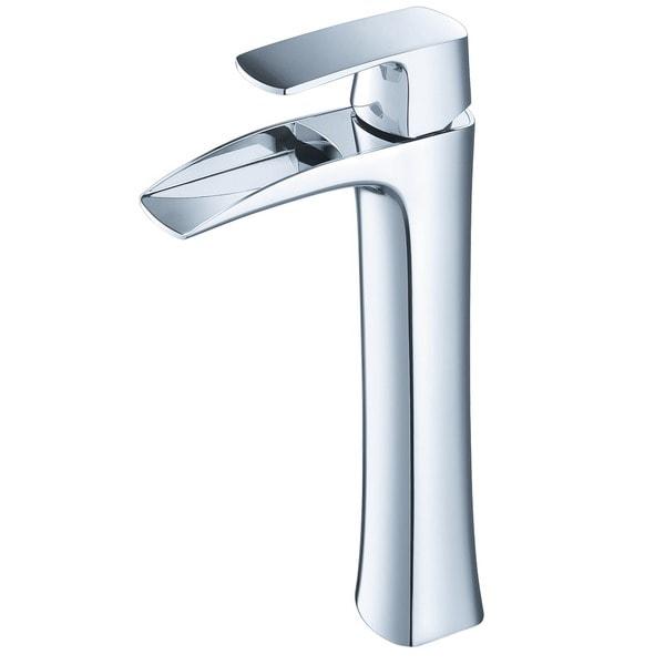 Fresca Fortore Single Hole Vessel Mount Bathroom Vanity Faucet Chrome