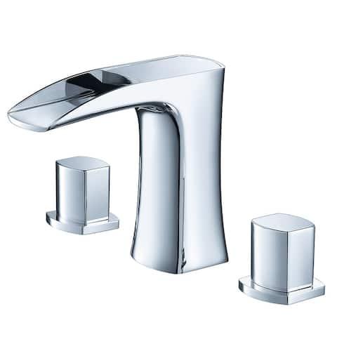 Fresca Fortore Widespread Mount Bathroom Vanity Faucet Chrome
