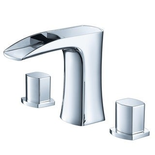 Fresca Fortore Widespread Mount Bathroom Vanity Faucet Chrome