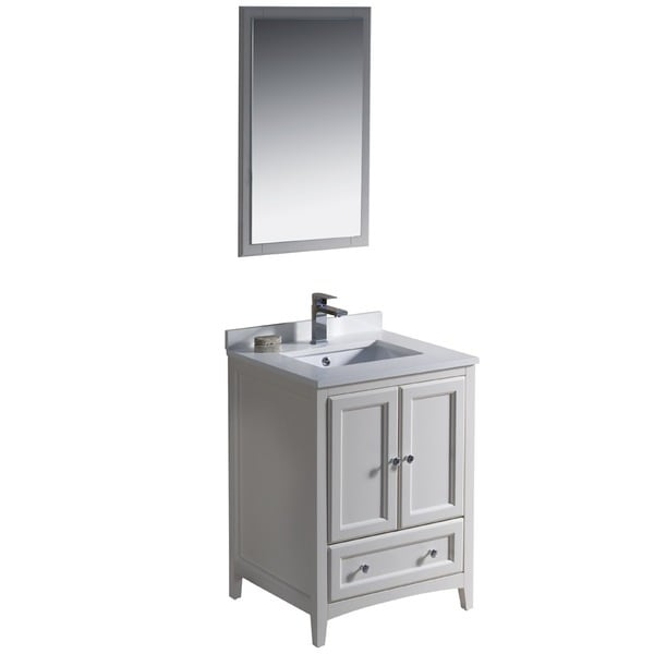 Fresca Oxford 24 Inch Antique White Traditional Bathroom Vanity Free Shipping Today