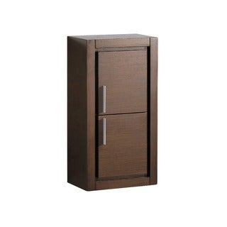 Fresca Wenge Brown Bathroom Linen Side Cabinet with 2 Doors