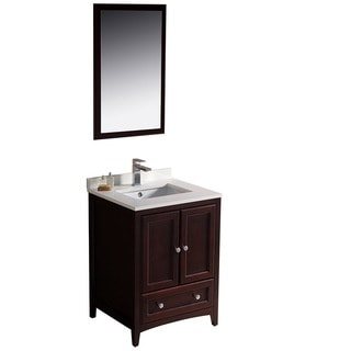 Fresca Oxford 24-inch Mahogany Traditional Bathroom Vanity