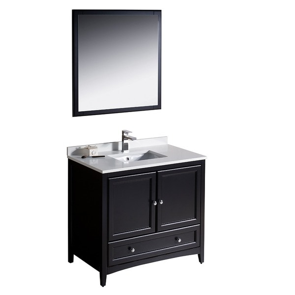 Fresca Oxford 36-inch Espresso Traditional Bathroom Vanity