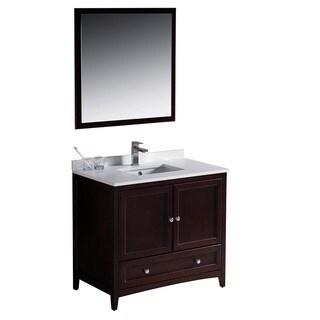 Fresca Oxford 36-inch Mahogany Traditional Bathroom Vanity