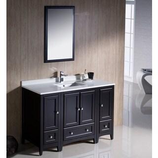 Fresca Oxford 48-inch Espresso Traditional Bathroom Vanity with 2 Side Cabinets