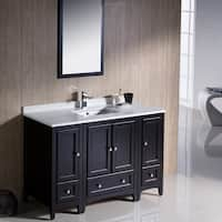 Fresca Oxford 60-inch Espresso Traditional Double Sink Bathroom Vanity with Side Cabinet